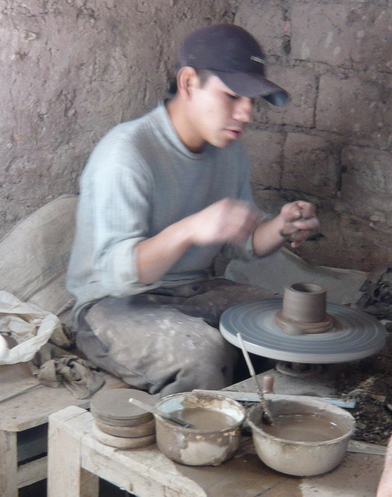 A local potter